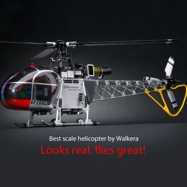 High Quality Walkera 4F200LM 2.4GHz 6CH Brushless Three-Axis Gyro RC Helicopter