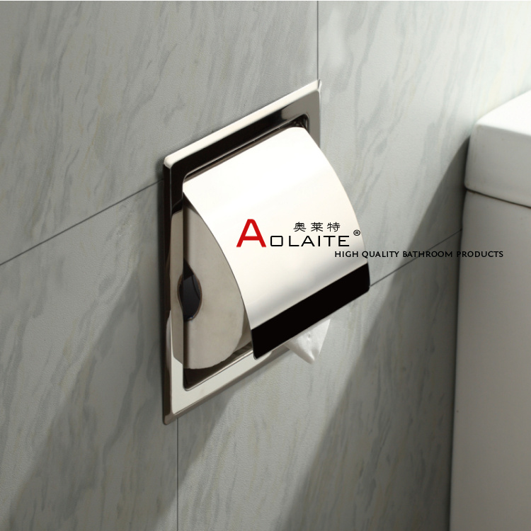 Concealed Wall Embedded Stainless Steel Roll Holder Toilet Paper Holder Tissue Box Tray Paper