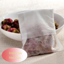 500pcs heat tea filter bags Empty Teabags folding tea bags Heat Seal Filter Paper Herb Loose Tea Bag 6.5x7cm(China (Mainland))