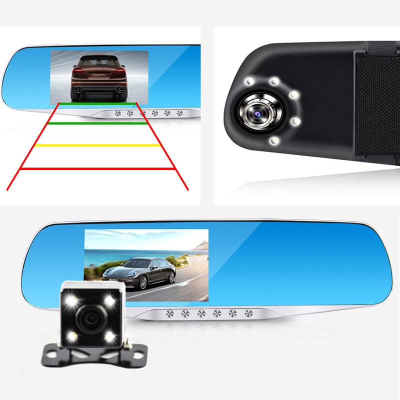 Jansite Night Vision Car Dvr detector Camera Blue Review Mirror DVR Digital Video Recorder Auto Camcorder Dash Cam FHD 1080P(China (Mainland))