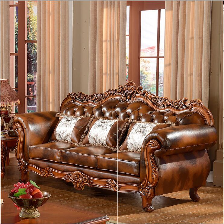 living room furniture modern fist layer genuine leather sofa European sectional sofa set 1033(China (Mainland))