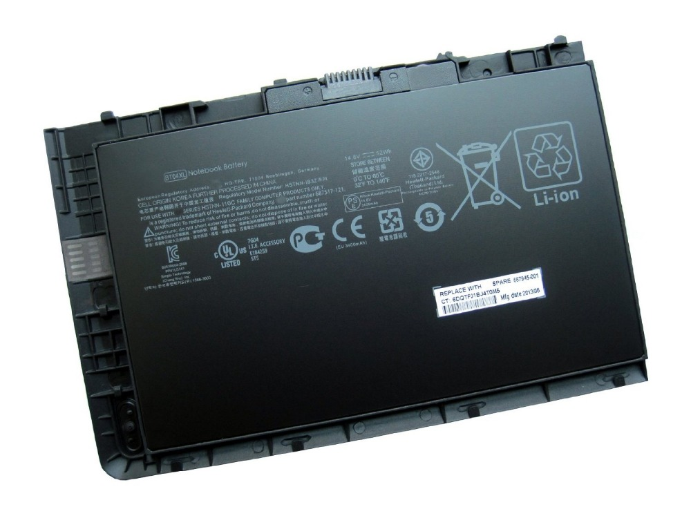 Фотография Genuine Laptop Battery for HP EliteBook Folio 9470 BT04XL HSTNN-DB3Z HSTNN-IB3Z HSTNN-I10C BA06XL, H4Q47AA, H4Q48AA Batteries