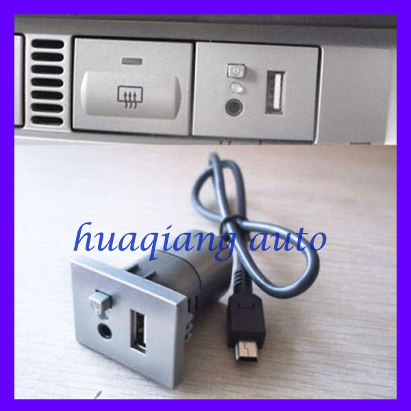 For Ford Focus USB Music Interface Slot Button With Cable(China (Mainland))