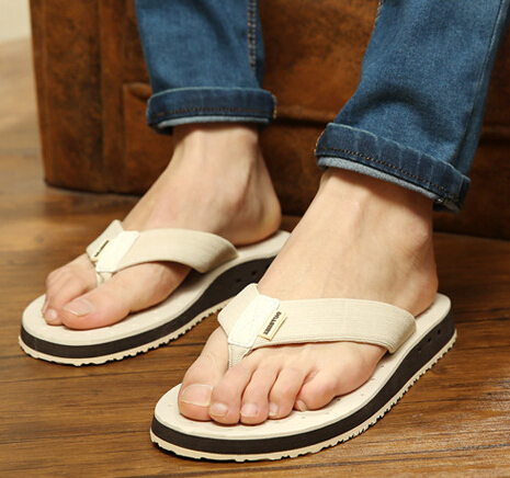 New Style Summer Nice Flip Flops Casual Fashion Men Sandals Beach Shoes Massage Flip-Flops Slippers Soft Slides MSH152(China (Mainland))