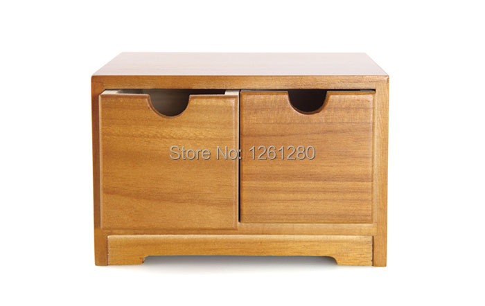 free shipping Wooden desk storage drawer debris cosmetic storage box jewelry retro style office Creative Home supply(China (Mainland))