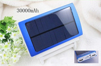 new free shipping power bank 30000mah power solar battery solar charger solar power bank for Nokia iPhone Samsung series