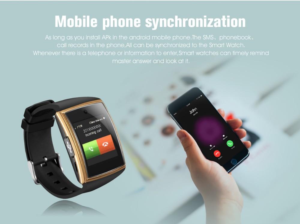 ถูก ใหม่lg518 smart watch 3dพื้นผิวโค้งipsสูงbluetooth3.0 nfcสนับสนุนซิมการ์ดtf pedometerการนอนหลับการตรวจสอบสมาร์ทกันน้ำ