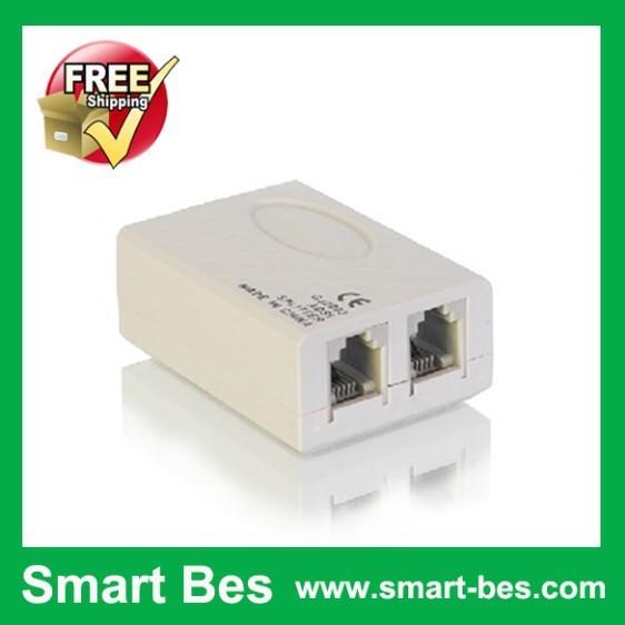 Smart Bes!Free shipping!adsl splitter broadband splitter telephone a minute second separator telephone junction box