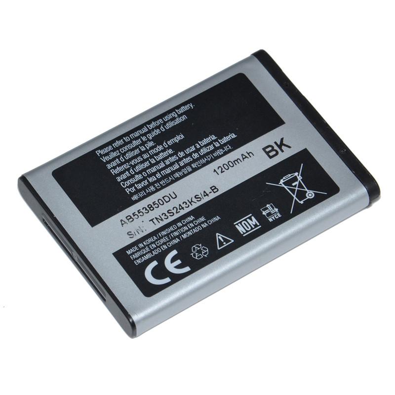 1200mAh Li-Polymer Mobile Phone AB553850DU Battery For Samsung D880 D880i D888 D988 I608 W599 W619 W629 B5702c B5712c(China (Mainland))