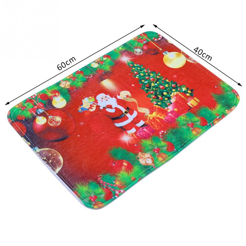 Hot Sale Santa Claus Christmas Tree Mats Doormat Floor Non Slip Rug Christmas Decoration -m5(China (Mainland))