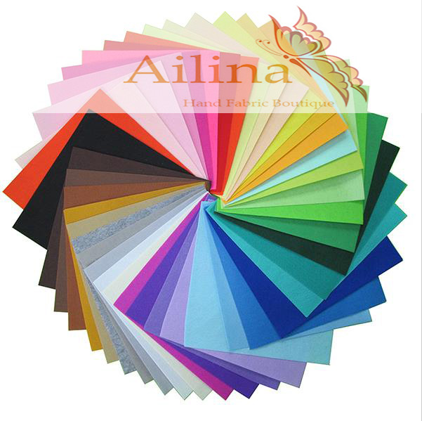 Low Price 100% 40colors/lot 30CMX30CM Felt Fabric,Polyester,Non-woven Felt,1 MM Thick,Handmade fabric DIY Not woven Cloth(China (Mainland))
