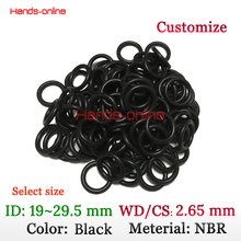 Buy CS 2.65mm NBR Oring ID 19 20 21.2 22.4 23.6 25.2 26.5 28 29 29.5 mm thickness rubber seal o-ring seal washer gasket water proof for $1.34 in AliExpress store