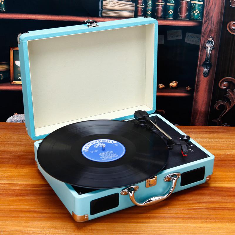 Portable gramophone portable suitcase LP vinyl machine Antique Vintage LP phonograph record player vinyl(China (Mainland))