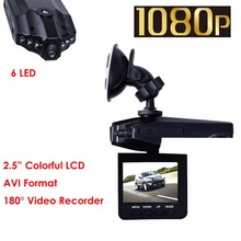 "6 LED 2.5"" Full  HD 1080P LCD Car DVR Vehicle Camera Video Recorder Dash Cam Night Vision Recorder Free Shipping(China (Mainland))"