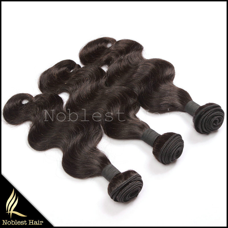 Фотография cheap body wave brazilian remy hair weaving extensions 7a natural color wavy 100% human hair weave 4pcs/lot free shipping