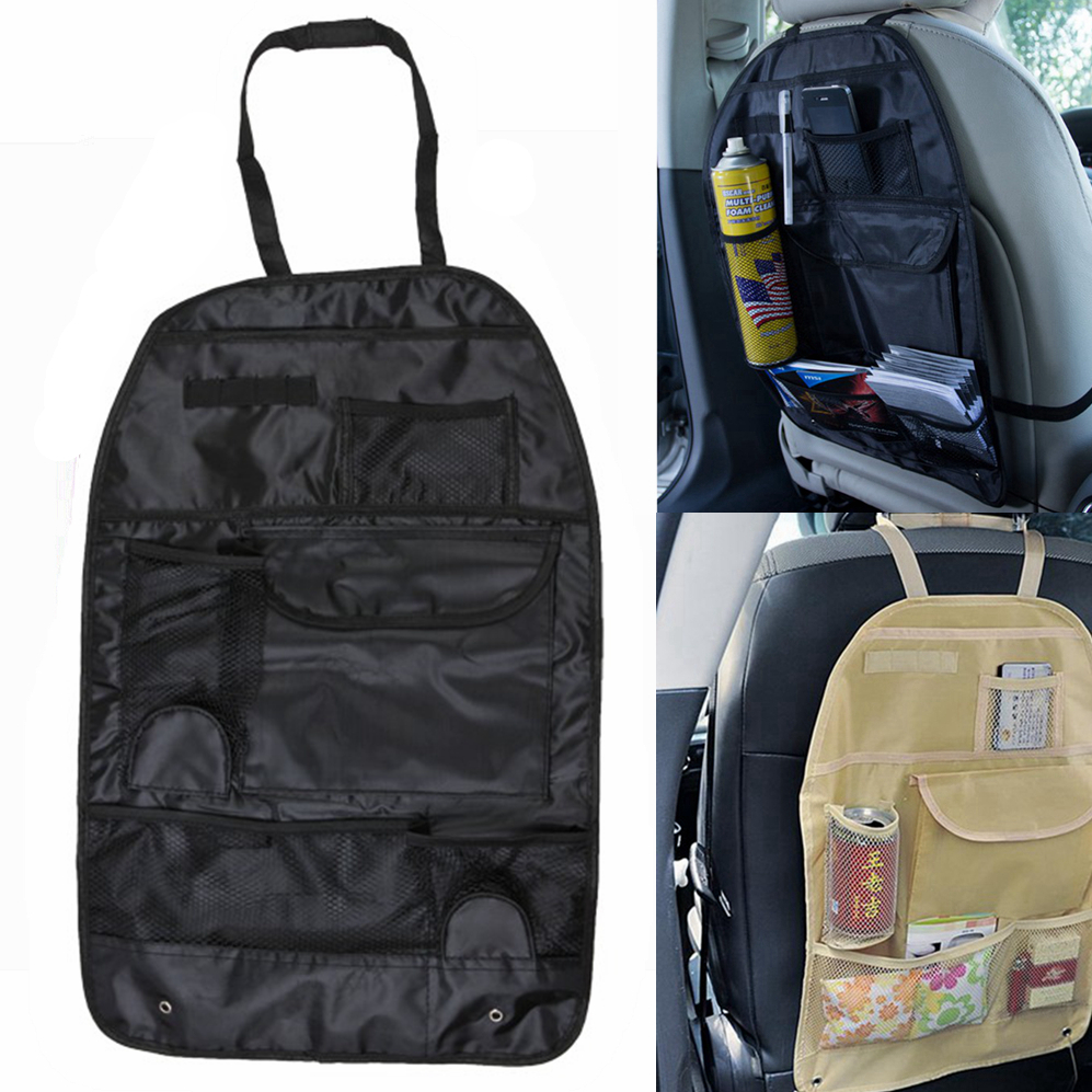 Black/Beige Color Multifunction Practical Back Seat Nylon Fabric Storage Bag for Car Track Suv(China (Mainland))