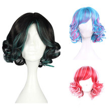 Fashion Sexy Short Curly Wavy Cosplay Full Wig Women Wigs Wave Hair Wig Girl Gift(China (Mainland))