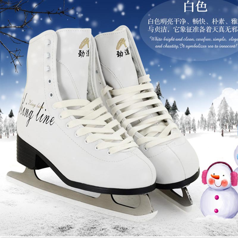 Buy Original Jindao Ice Skate Tricks Shoes Adult Child Leather Ice Skates Professional Flower Knife Ice Hockey Knife Real Ice Skates cheap