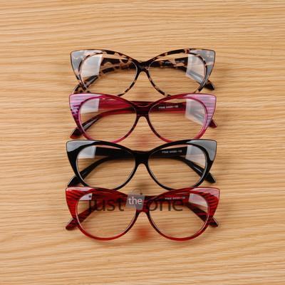Cool Cute Fashion Women Lady Girls Cat-eye Shape Spectacle Plain Glasses Plastic Leopard Black Color 55(China (Mainland))