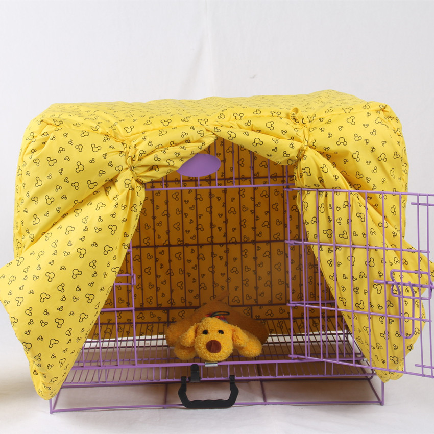 Pink Yellow Pet Dog Cage Cover Winter Warm Puppy Blanket Pet Supplies XS-XXL(China (Mainland))