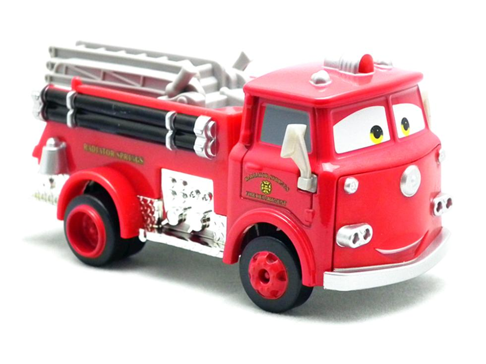 Pixar Cars 2 Red Firetruck Deluxe Fire Truck Metal Toy Car Loose Diecast 1:55 for Kids Children(China (Mainland))