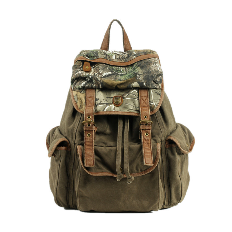 Free Shipping Augur Vintage Men Women Fashion Casual Canvas Backpack Schoolbag Hiking Travel Bag