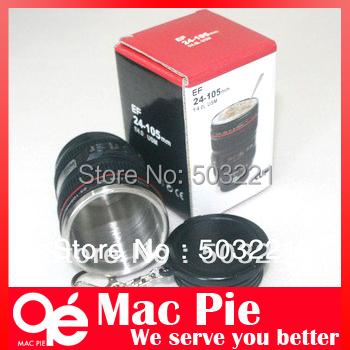 Free Shipping Hot Camera EF 24-105mm Lens Mug Mini Coffee Cup Cute Drink key chain(China (Mainland))