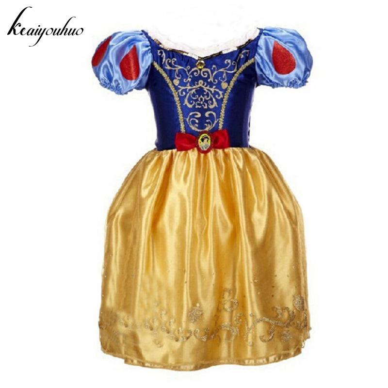 keaiyouhou 2017 Summer Girls Princess Dress Cinderella Rapunzel Snow White Easter Dress Costume For Kids Dress Children Clothes(China (Mainland))