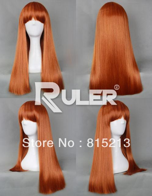 dd00302 Bleach Vega Highwell Halloween Pumpkin Orange Straight Party Costume Cosplay Wig<br><br>Aliexpress