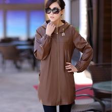 Hot-selling leather jacket women large size 5XL 2016 long plus size leather clothing female outerwear ladies jackets and coats(China (Mainland))