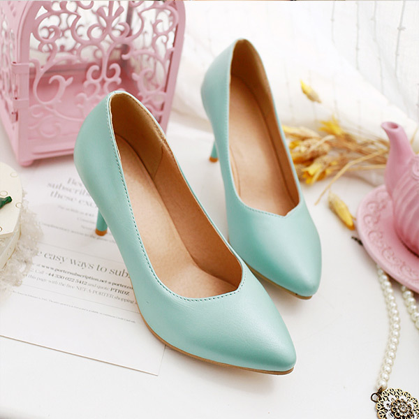 2015 summer new leisure style simple pionted-toe women pupms high heel women pupms Comfortable and breathable women shoesE2714<br><br>Aliexpress