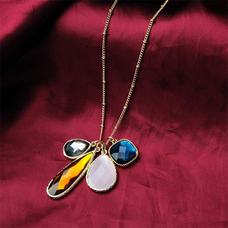 Wholesale designer inspired jewelry Handmade Wholesale Israel Be Good to Yourself Jewelry Crystal Single Gold Leaf Necklace(China (Mainland))