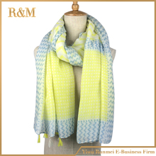 Amazing New Arrival plaid and stripe yellow Oversized Tartan Scarf Women Wrap Shawls and Scarves Plaid scarf