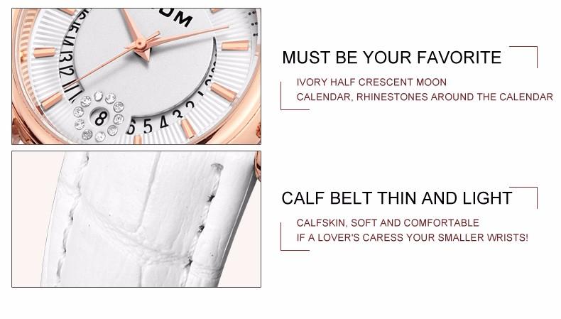 DOM Fashion Ladies Casual Watches Luxury Brand Leather Strap clock hours Women Quartz-Watch Flowers Female Wristwatch G-1698