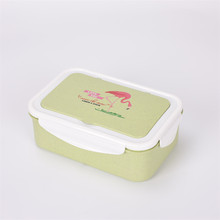 Japonês de Microondas Caixa de Almoço Bento Box Trigo Palha Criança À Prova de Vazamento-Food Container Bento Lunch Box Para Crianças em Idade Escolar fiambrera(China)