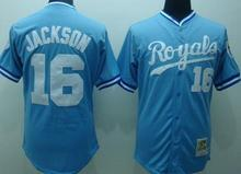 Cheap Men #16 Bo Jackson Kansas Royals Baseball Jersey Embroidery Logos Throwback China Best Quality Authentic Aimee Smith Store(China (Mainland))