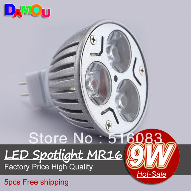 1000x 2 Years Warranty High Brightly CREE MR16 9W 3*3W 12V Led Light Lamp Led Spotlight Dwonlight bulb