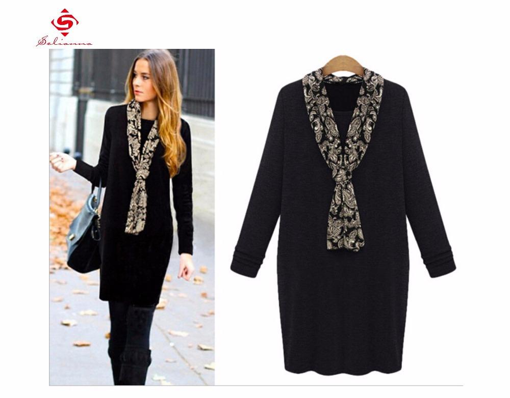 Accessorize Black Sweater Dress