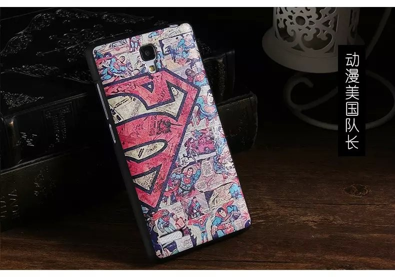 Fashion Cool Cartoon Painting PU+TPU Soft Cover Case For Xiaomi Red Rice RedMi Note Cover Mobile Phone Accessories