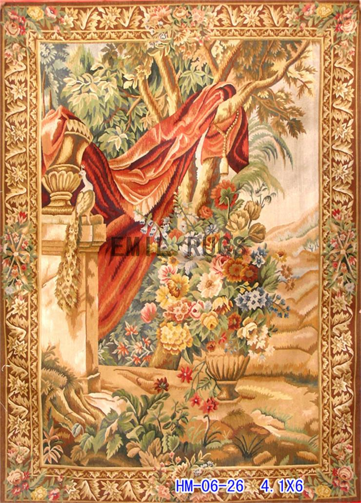 2014 Sale Direct Selling Gobelin Picture Tapestry Wall Hanging Pure Wool Handmade Tapestry 141cmx228cm 4.1'x 6'gc20tap4(China (Mainland))