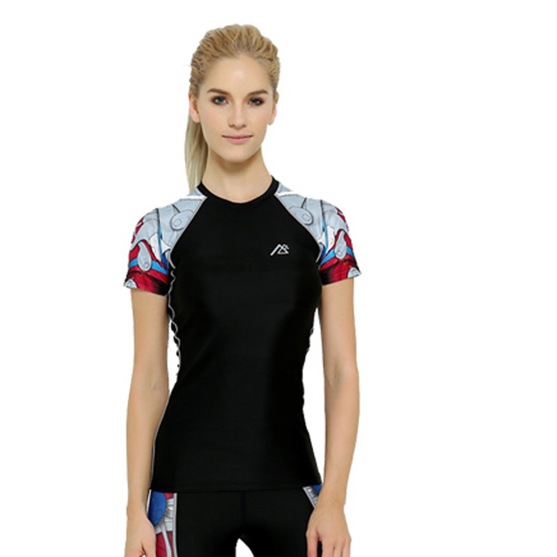 2016-New-Women-girls-Compression-Short-Sleeve-T-shirt-Unique-3D-Print-Breathable-Clothing-Female-Fitness (3)