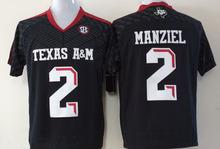 Texas A&M Aggies 2 Johnny Manziel 40 Von Miller 9 Ricky Seals-Jones White/Black/Red College Football Jersey(China (Mainland))