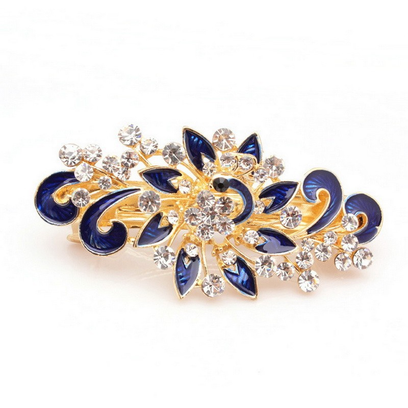 New Hot Fashion Women Girl Cute Colorful Shinning Crystal Rhinestones Peacock Hairpin Hair Clip Jewelry Headdress