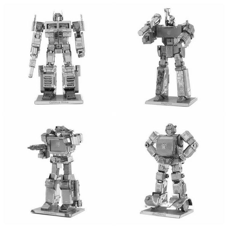 A fullset of metal deformation robot Autobots 3D puzzle diy children's brain child interaction intelligence toys assembled model(China (Mainland))