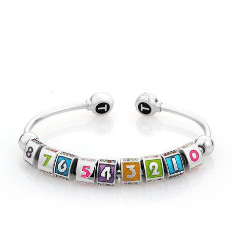 DIY charm beads 925 silver gift , Austria Crystal, Lucky Numbers 0-9 100% handmade, Delicate, everybody, - Love of Crystal Reliable Jewelry store