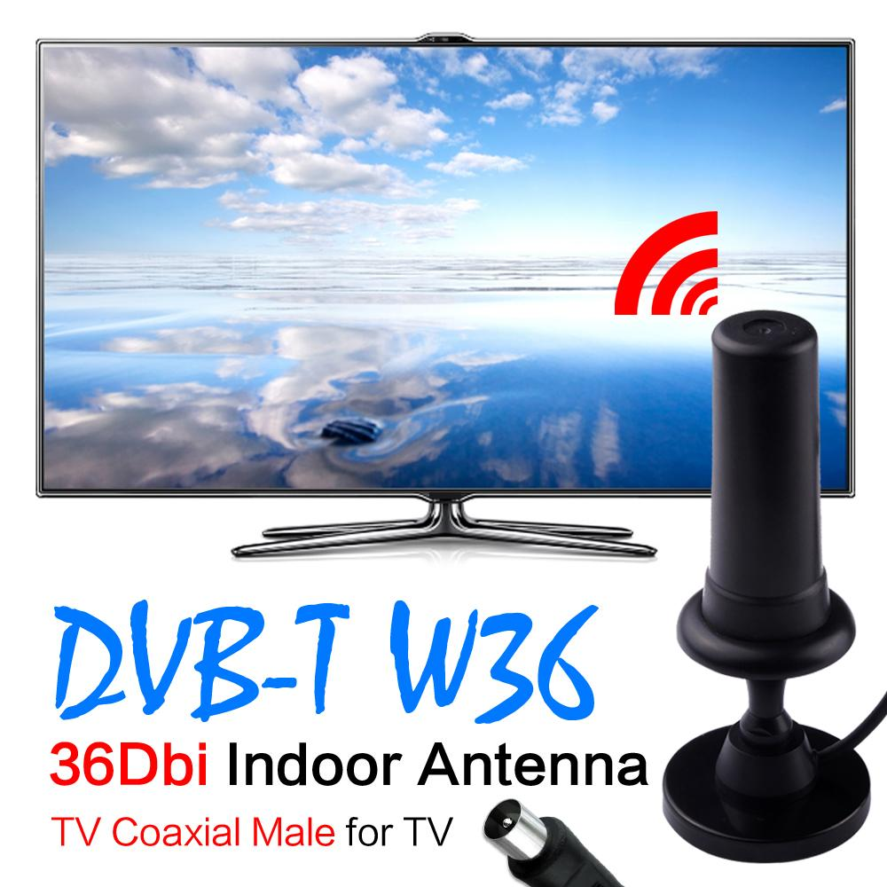 2016 new 36dBi Digital DVB-T DVB T HDTV Freeview Aerial Booster Indoor HD Gain Antenna For HDTV TV Black IEC Connector EL5935(China (Mainland))