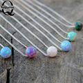 2016 New Women Pendant Necklace Eye catching Necklace Jewerly Opal Necklace Women Jewelry