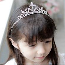 Nouveau mignon princesse couronne Tiara strass Corona Diadem Hairwear bijoux de cheveux de belles filles de demoiselle d'honneur de mariée bandeau(China (Mainland))