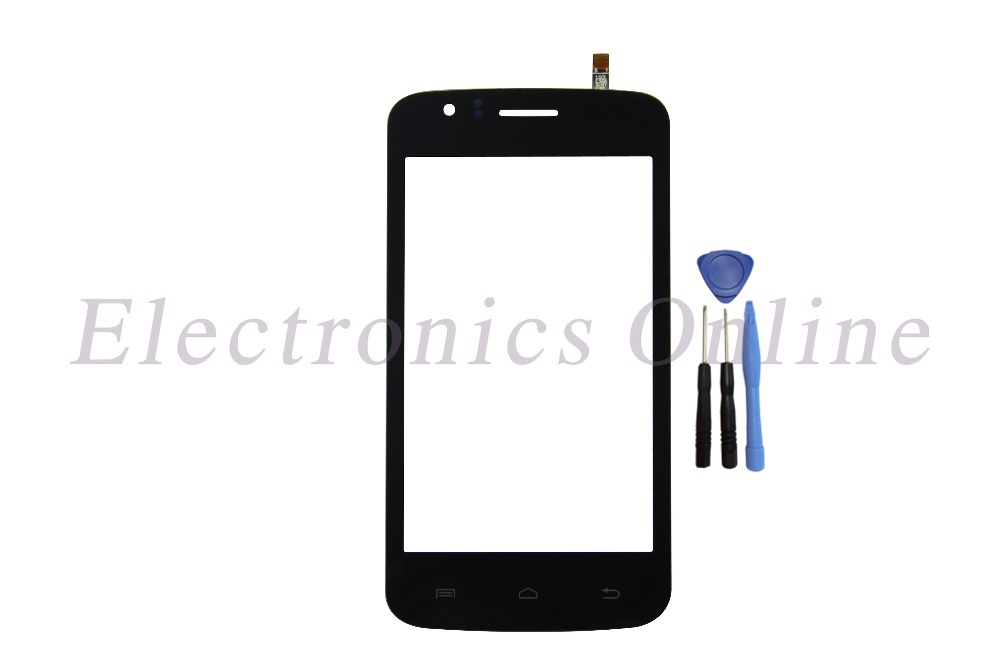 Original New Touch Screen Digitizer Glass Panel For Explay Atom touch screen Black Free Shipping With Tracking No.(China (Mainland))