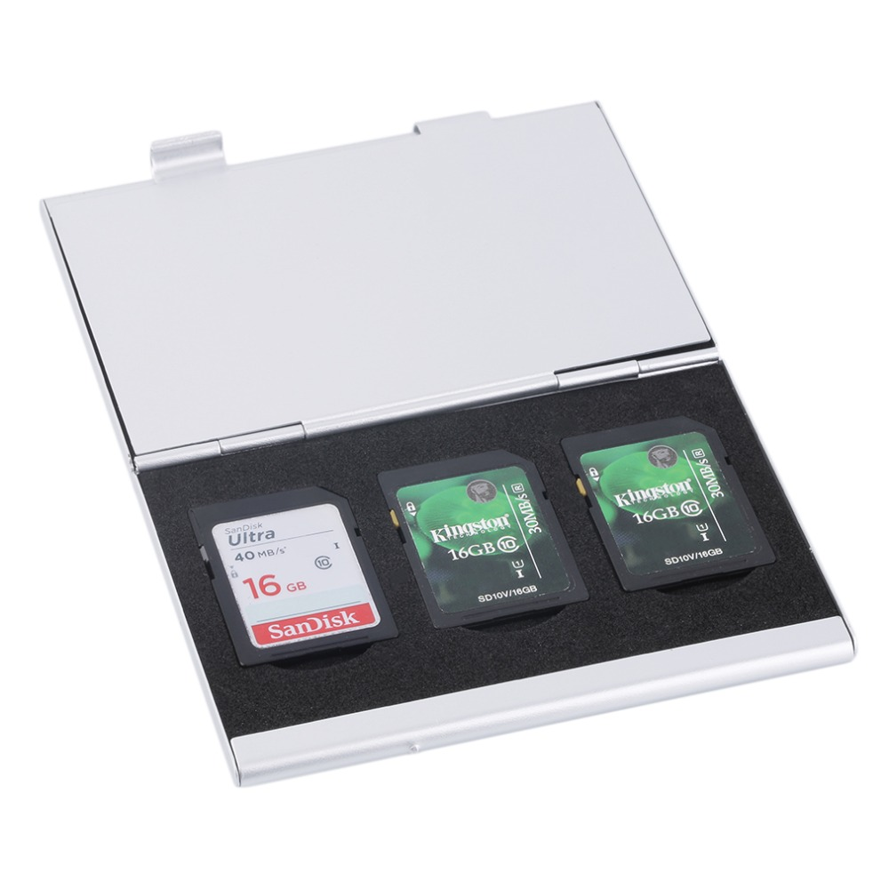 Aluminium Alloy Memory Card 5 Slots Protector Storage Box Case Cover Holder<br><br>Aliexpress